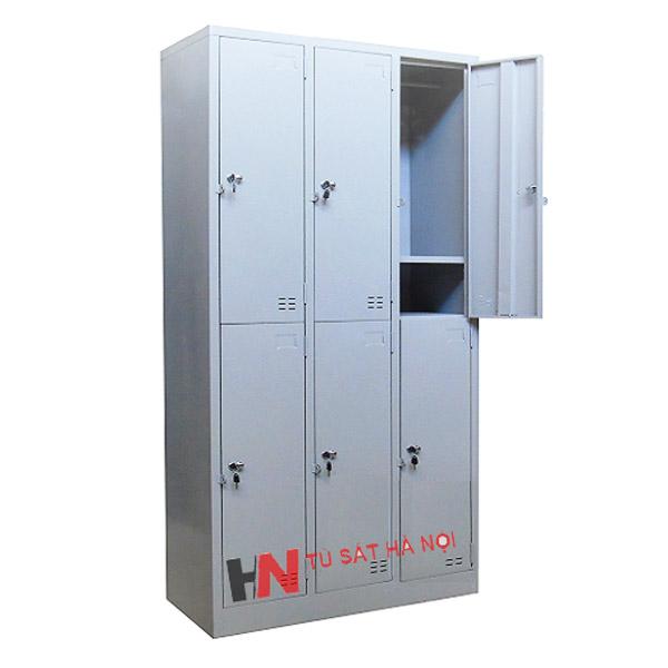 Tủ locker sắt 6 ngăn 3 khoang tại Hà Nội
