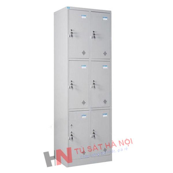 Tủ sắt locker 6 ngăn 2 khoang giá rẻ