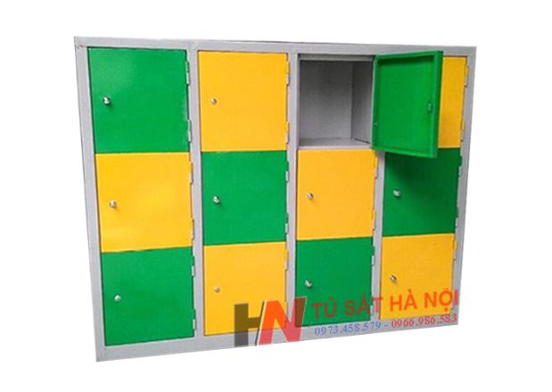 Mẫu tủ trường học được sử dụng nhiều tại cấp bậc học mầm non 1